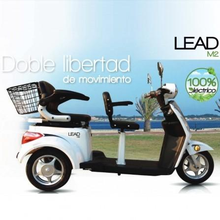 Moto eléctrica de 2 plazas para discapacitados LEAD M2